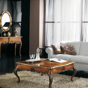 tavolino barocco intarsiato