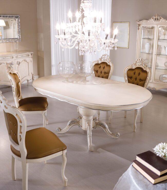 Tavolo ovale Chippendale