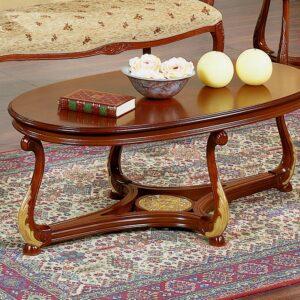 Tavolino ovale Brianza piano legno